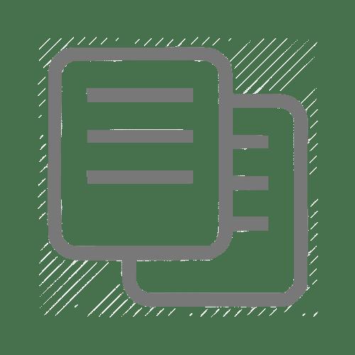 Ícone de tradução de um documento de produção