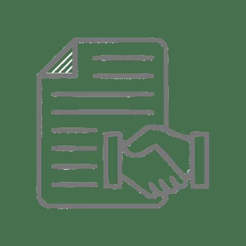 Ícone que simboliza um contrato