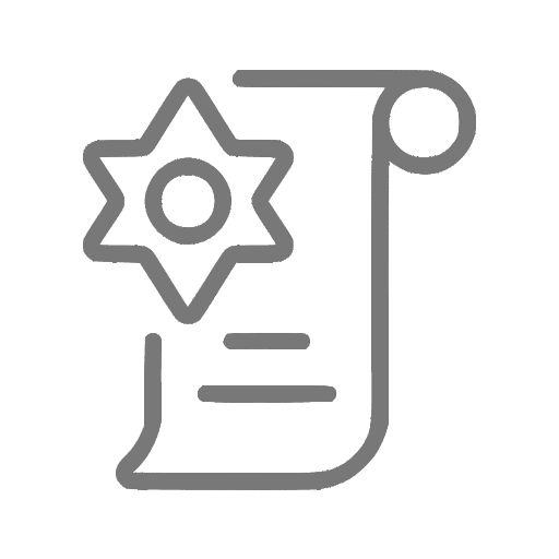 Ícone que simboliza um atestado de antecedentes criminais
