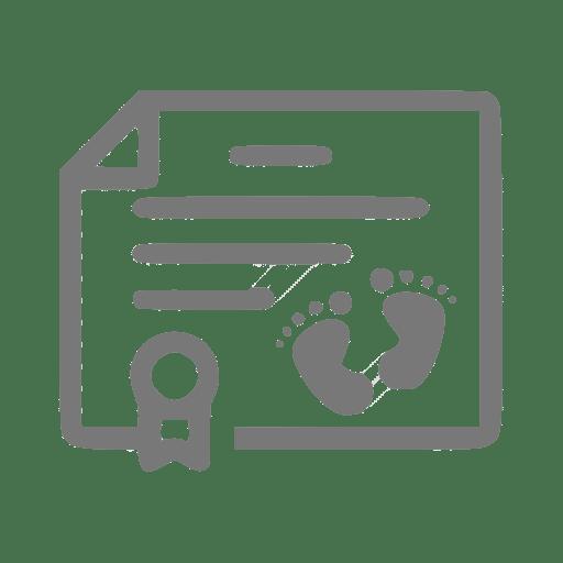 Ícone que simboliza uma certidão de nascimento