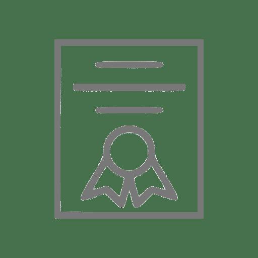 Ícone de documento simbolizando transcrição escolar
