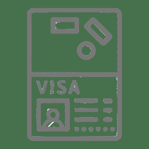 Ícone que simboliza um visto canadense