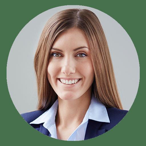 Uma imagem de uma tradutora loira de olhos azuis Docsbase Canada